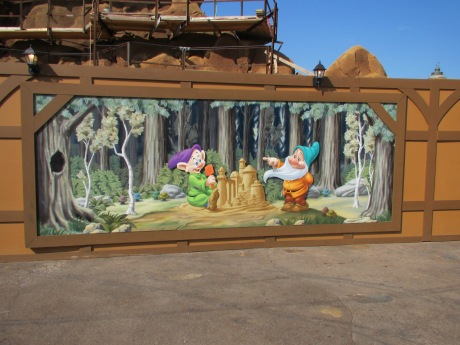 7 Dwarves Mine Train, under construction in the New Fantasyland