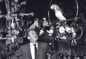 Walt Disney and Tiki Room bird