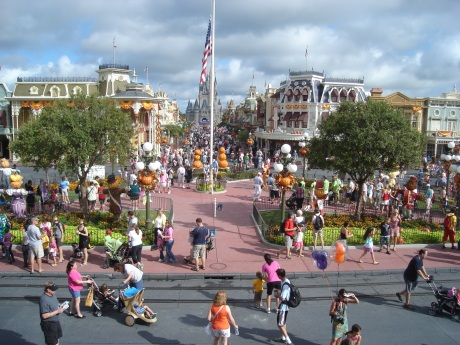 The Town Square at Magic Kingdom