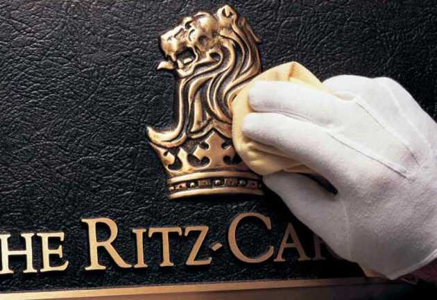 Ritz Carlton logo polished