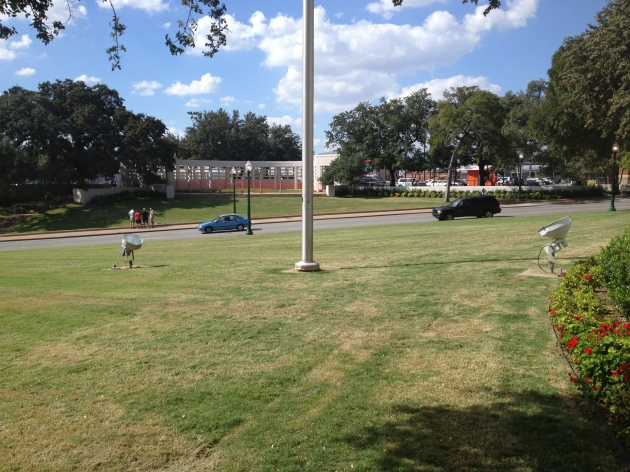 Walking toward the Grassy Knoll, October 2013